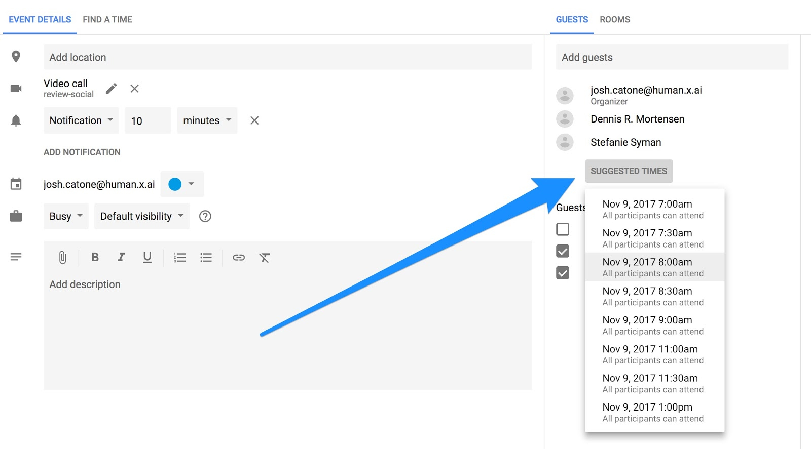 10 Ways To Rock Your Google Calendar – X.ai For Google Calender Adding Notes