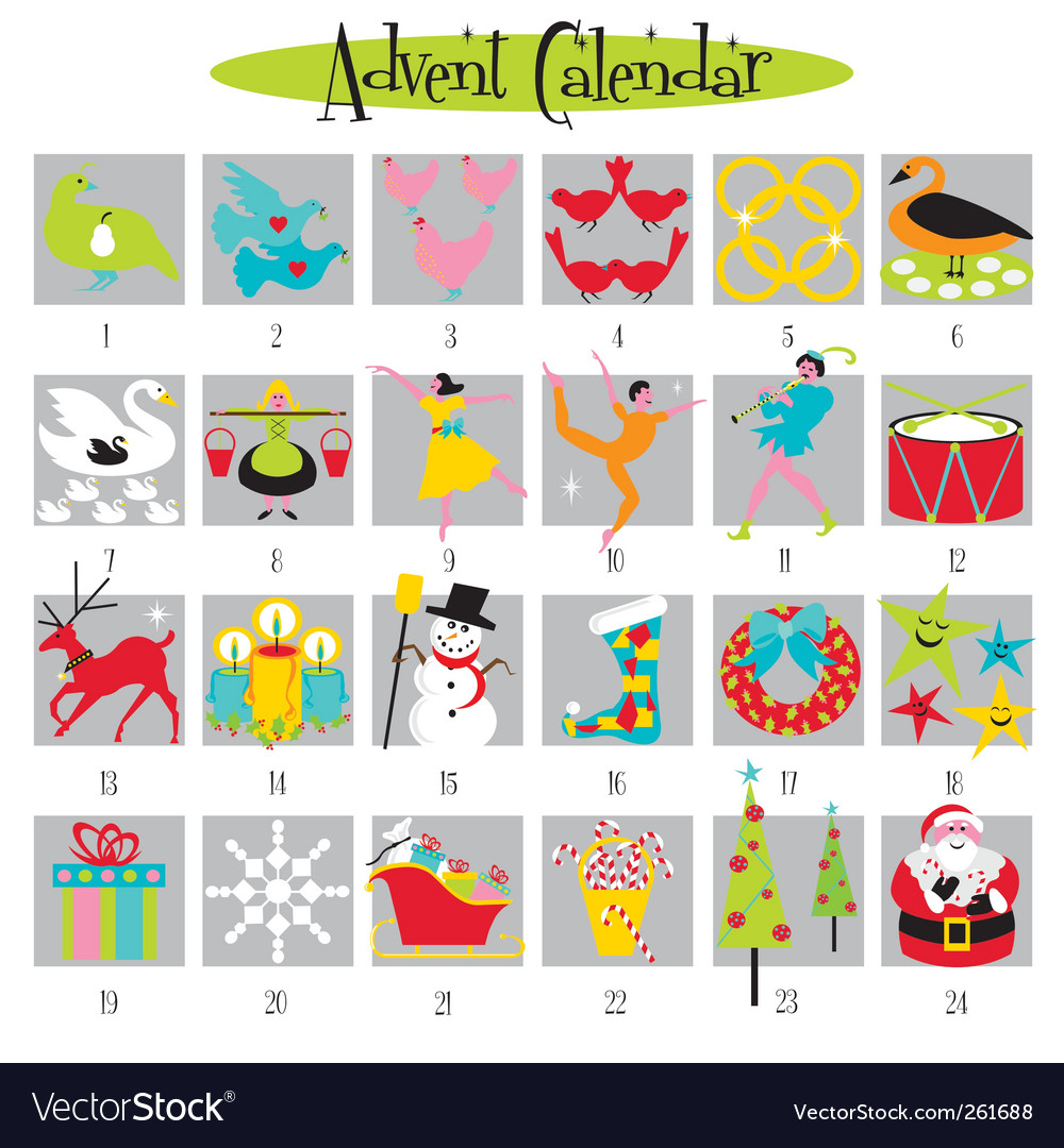12 Days Of Christmas For 12 Days Of Christmas Calendar