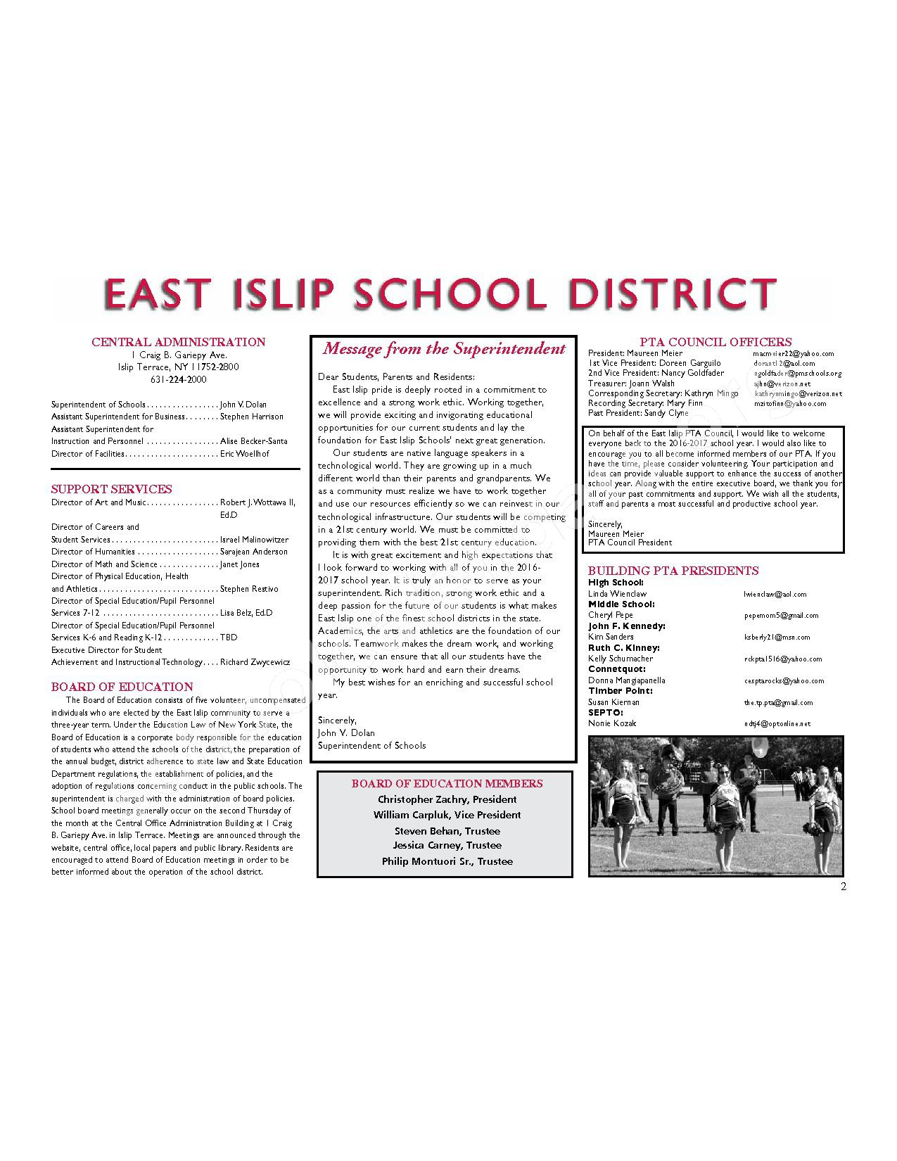 2016 - 2017 District Calendar | East Islip Union Free School For East Islip School District Calendar