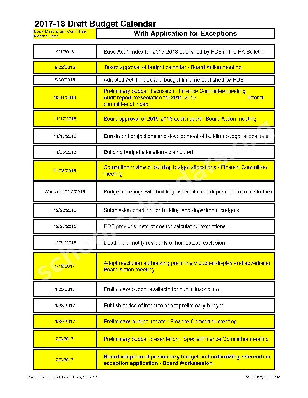 2017 – 2018 School Calendar | North Penn School District Regarding North Penn District Calendar