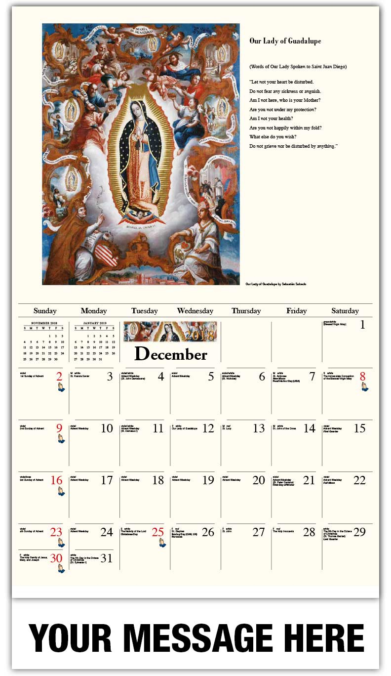 2018 Calendar Catholic – 2019 New Year Images Regarding Mexican Calendar With Saints