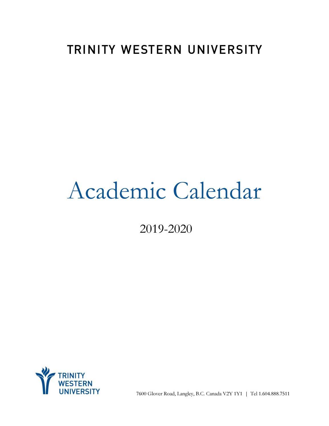 2019 20 Academic Calendartwu – Issuu Pertaining To Metro Nashville Public Schools Calendar 2021