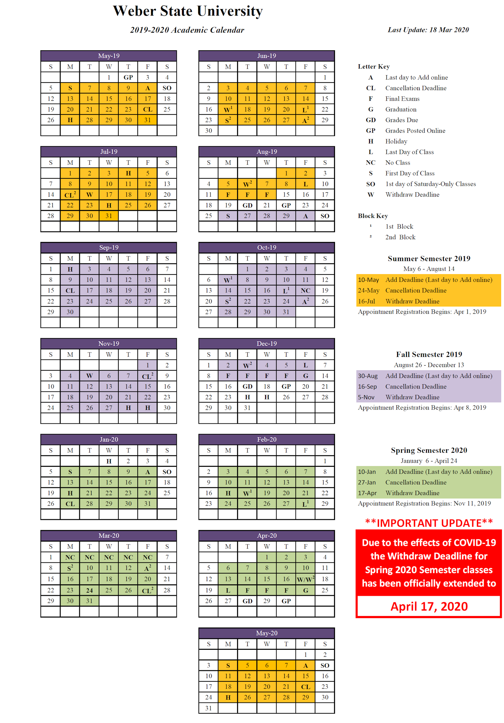 2019 2020 (Approved) Intended For Weber County School Calendar 20