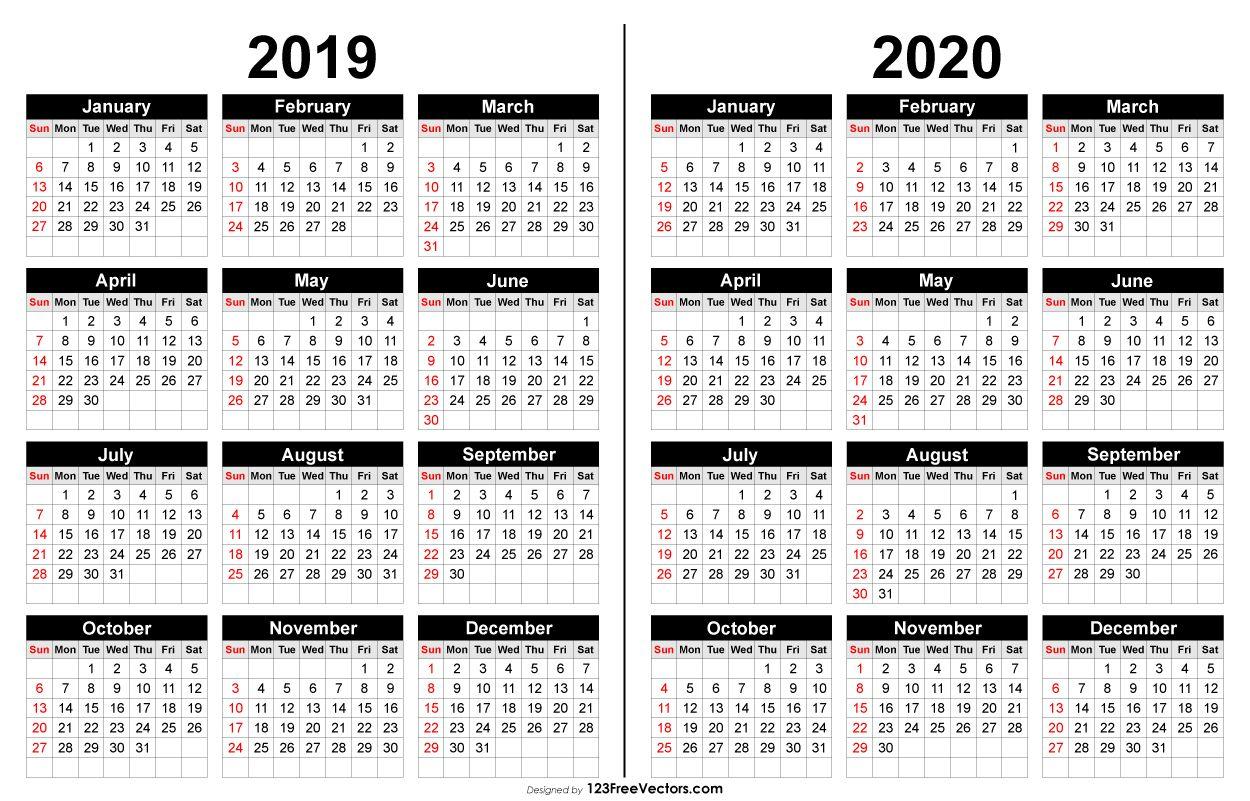 2019 And 2020 Calendar Printable | Calendar Printables, 2021 Within William And Mary 2021 20 Calendar