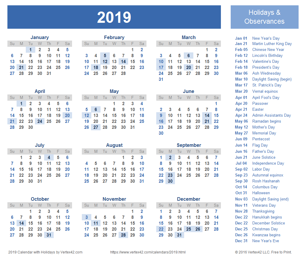 2019 Calendar Templates And Images With Regard To Where To Find Google Printable Amendable Calander