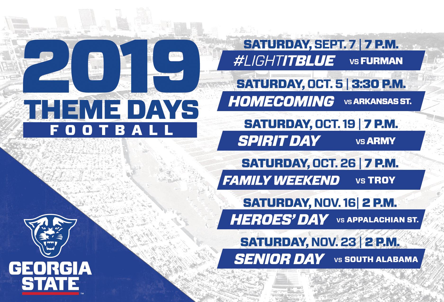2019 Football Promotions – Georgia State University Throughout Ga State University Academic Calendar 2020