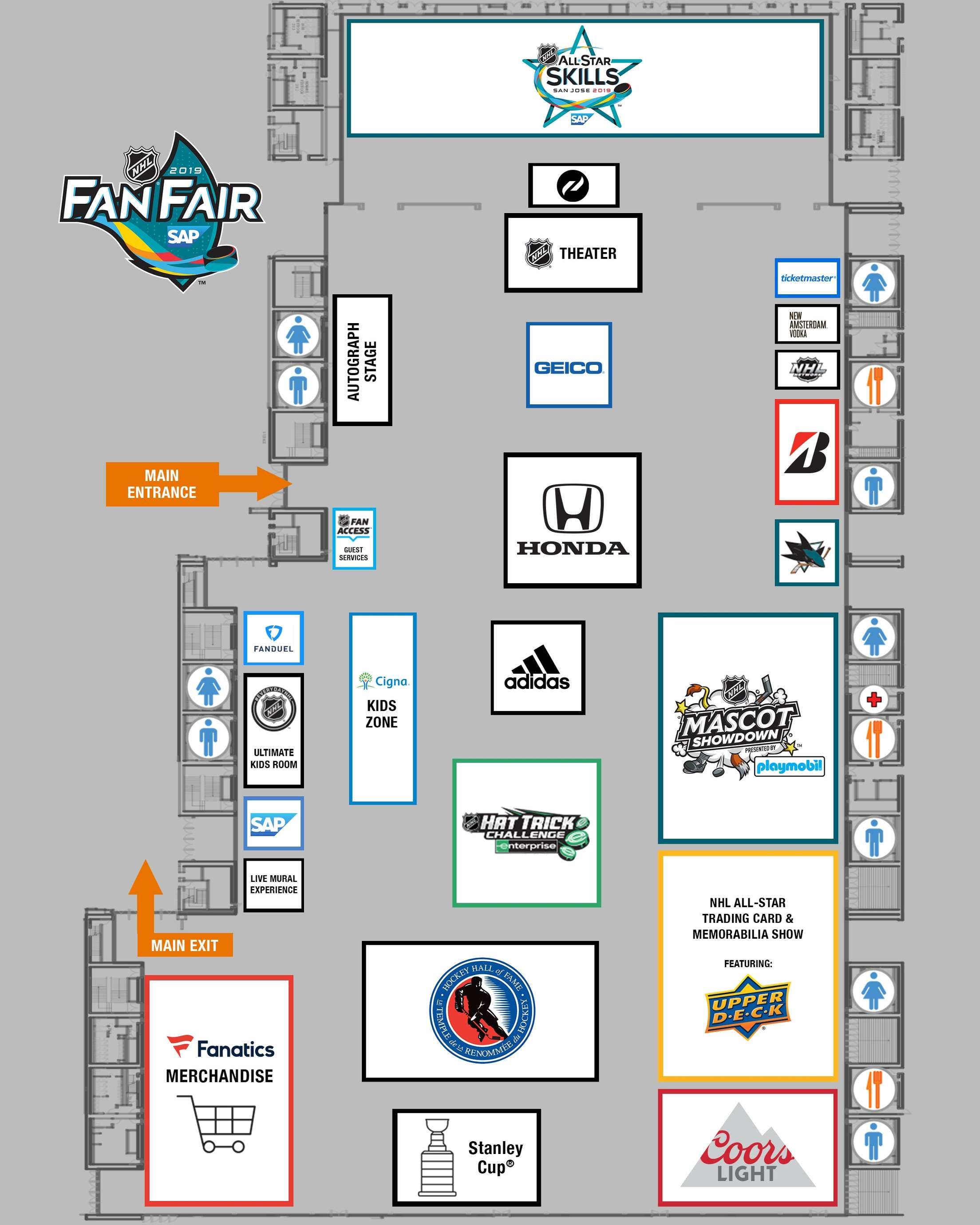 2019 Nhl Fan Fair | Nhl Pertaining To San Jose Conventions Center Calendar