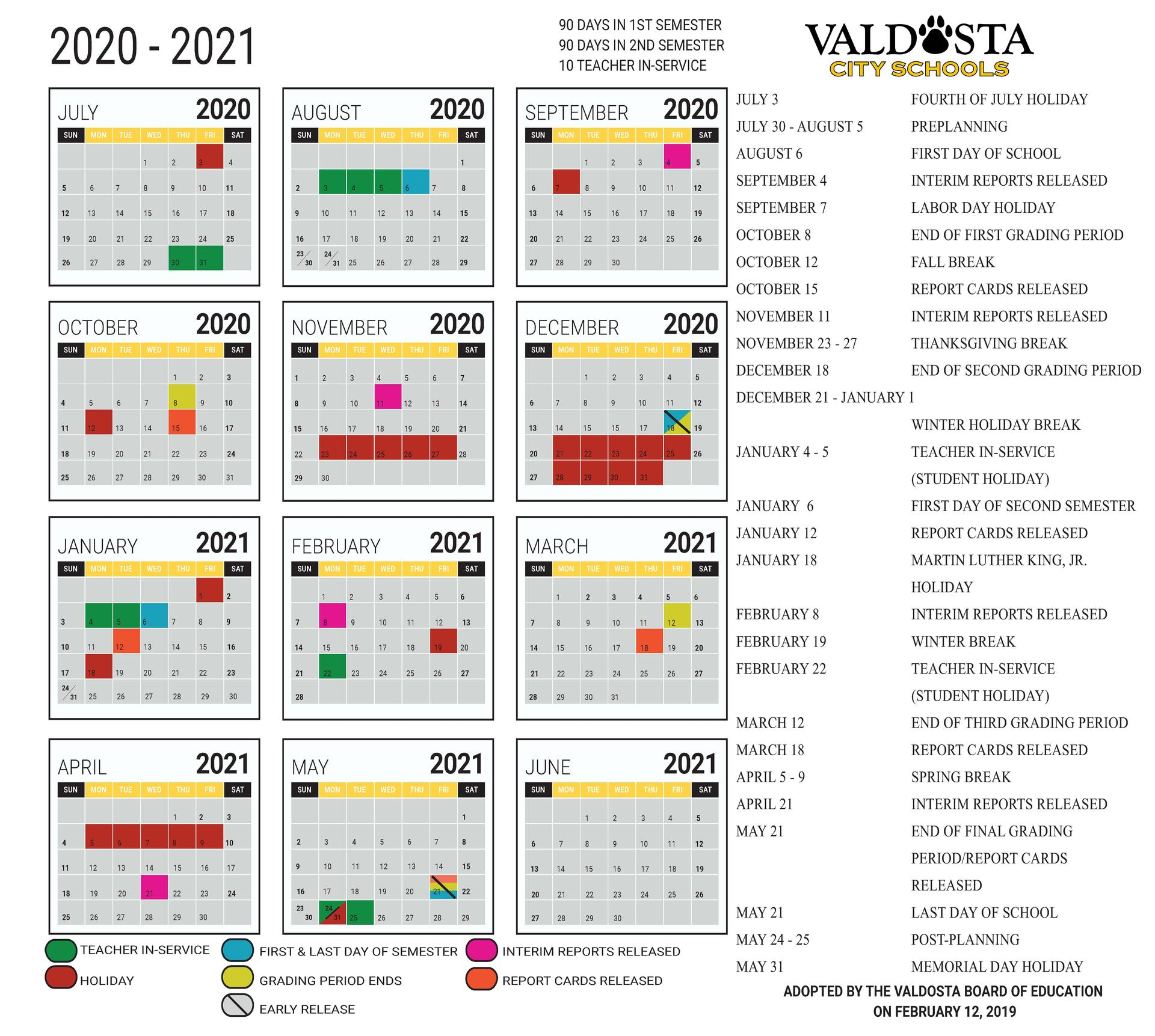 2020 - 2021 Academic Calendar – Student Support Services Pertaining To Gsu Academic Calendar 2021