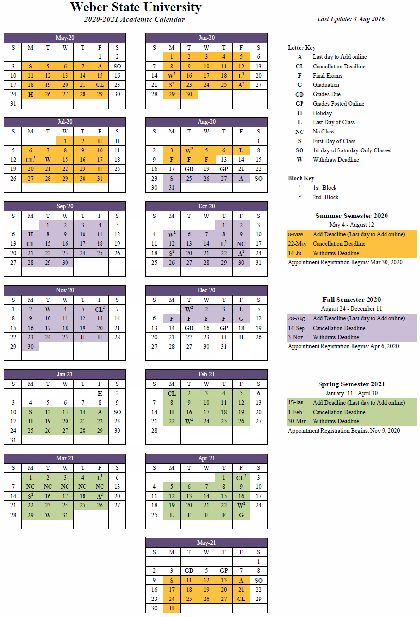 2020 2021 (Approved) In Weber County School Calendar 20