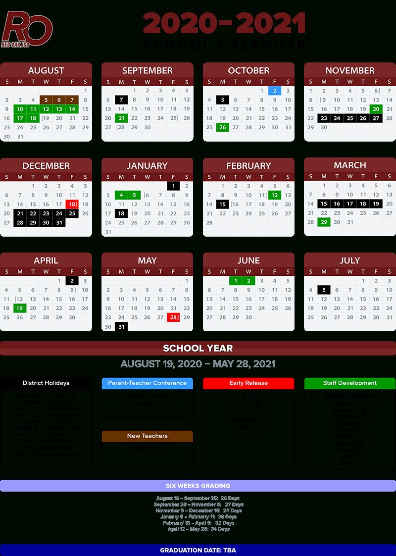 2020 2021 School Calendar / Annual Calendar – 2020 2021 Throughout Sprinh Break In Collin College 2029