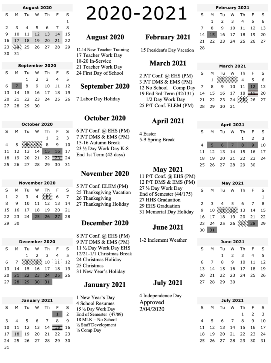 2020 2021 School Calendar – Human Resources – Uinta County Within Calendar Year 2021 Department Of Education