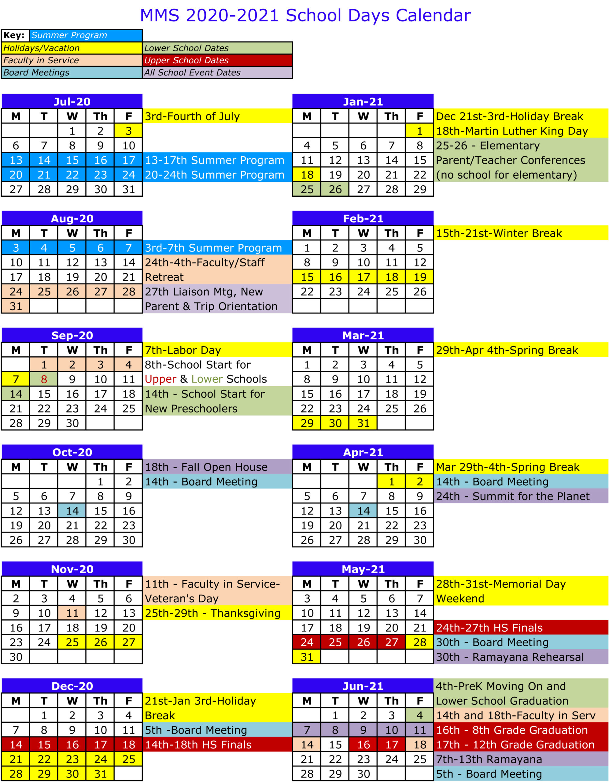 2020 2021 School Days Calendar – Mount Madonna School With Regard To Hayward Unified School District Calendar 2021