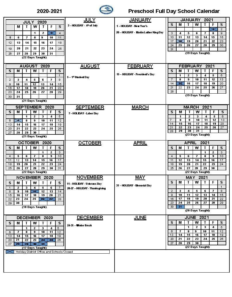 2020 21 School Calendars – Academic Calendars – Monterey In Gilroy Unified School District Calendar 2021