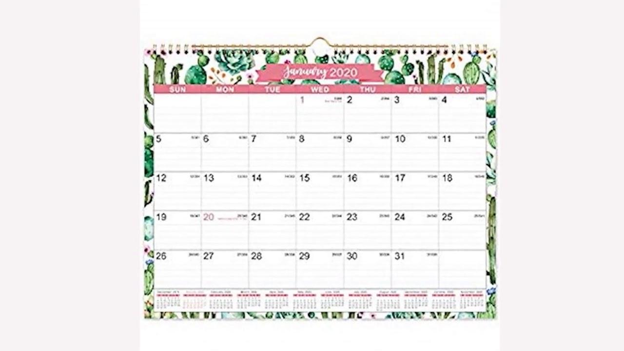 2020 Calendar – 12 Monthly Wall Calendar With Julian Date Thick Paper Inside Julian Date Converter 2021