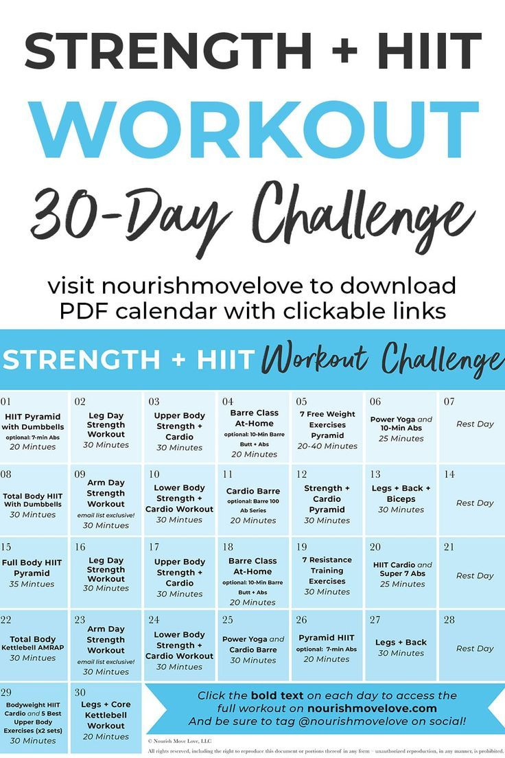 30 Day Advanced Strength + Hiit Workout Plan | 30 Day Throughout 30 Days Fitness Calendar