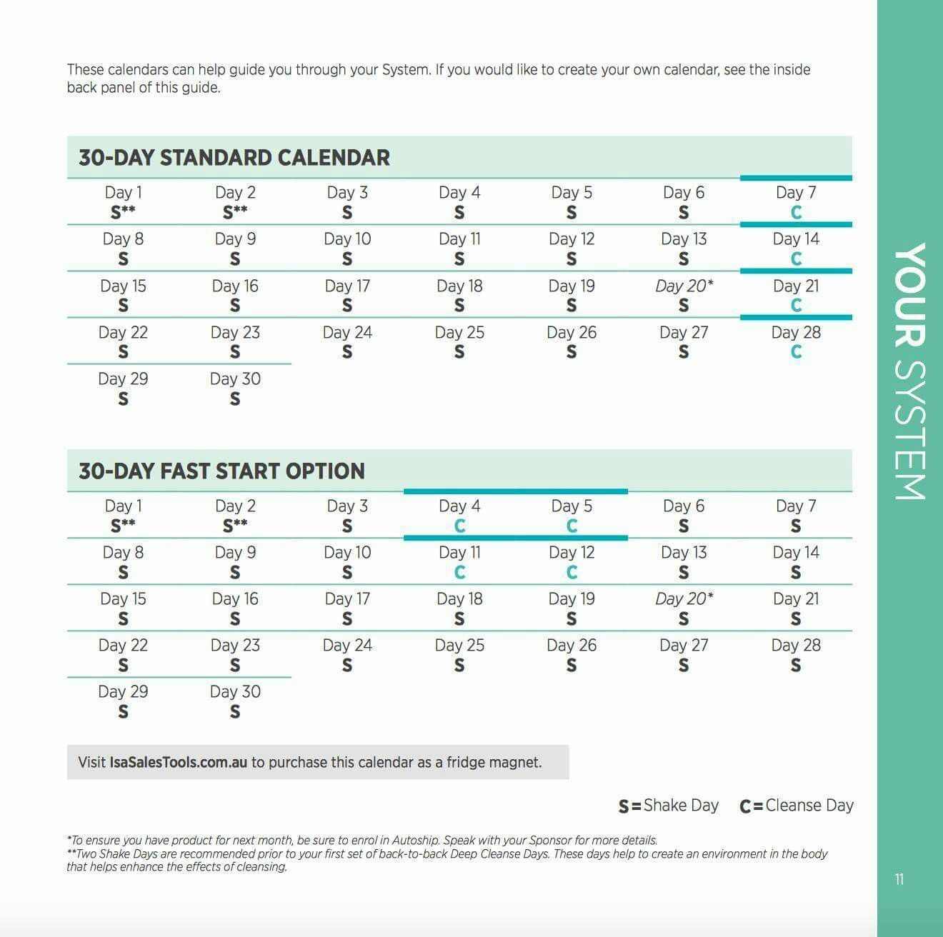 30 Day Calendar | Isagenix, Create Your Own Calendar intended for Isagenix 30 Day Printabel Schedule