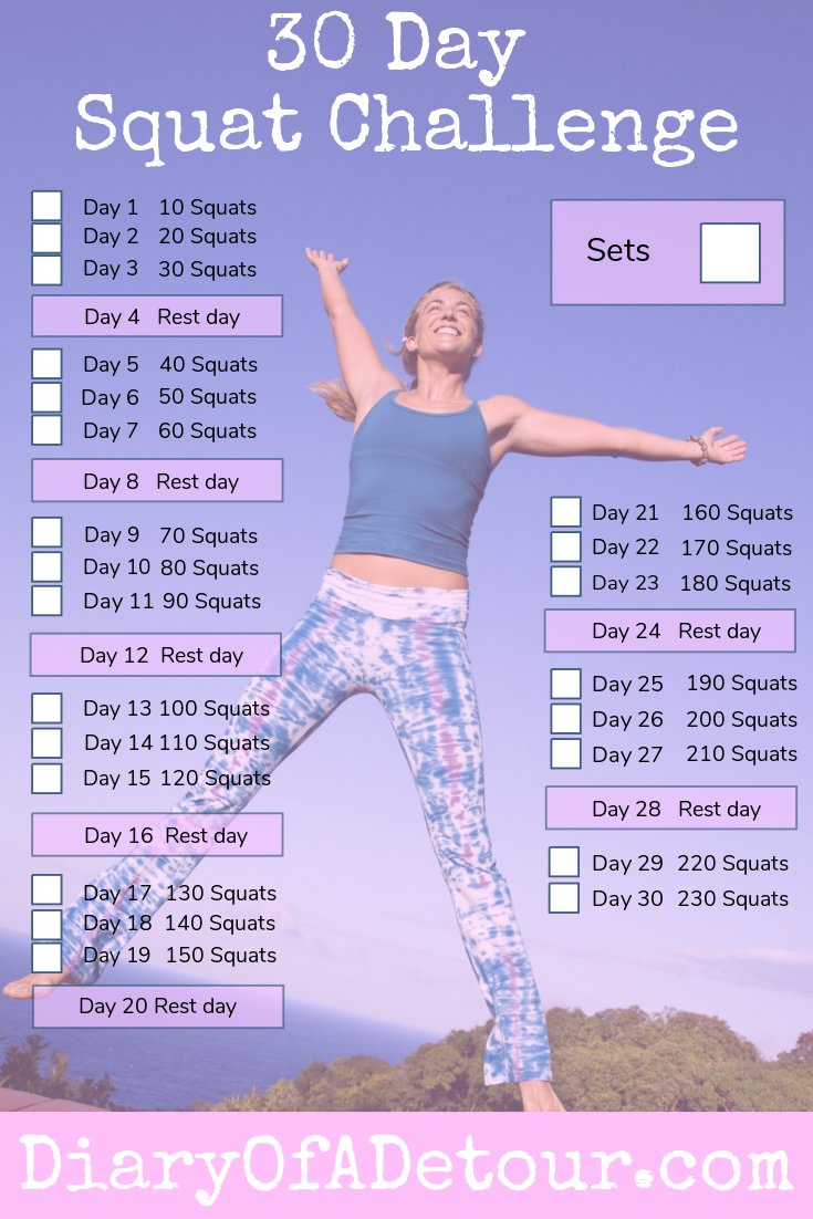 30 Day Squat Challenge : A Fitness Challenge For All Abilities Throughout 30 Day Squat Challenge Printable