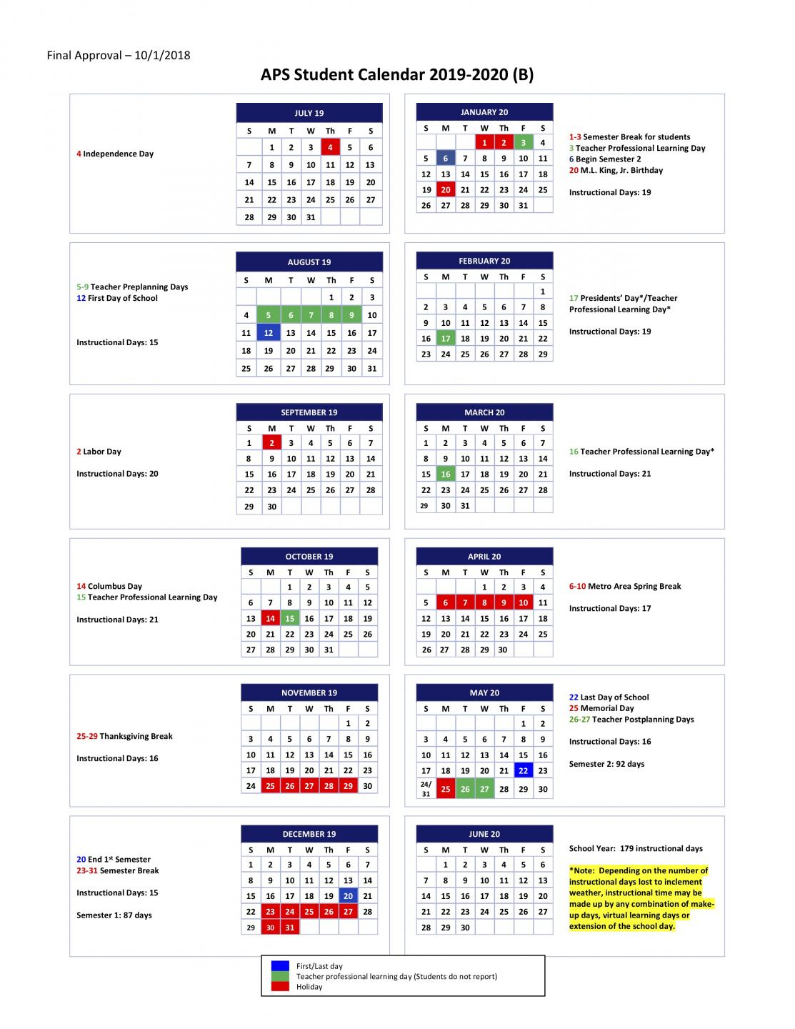 5.02 Student Calendars For School Years 2019 2020, 2020 2021 Pertaining To Gsu Fall 2021 Calendar
