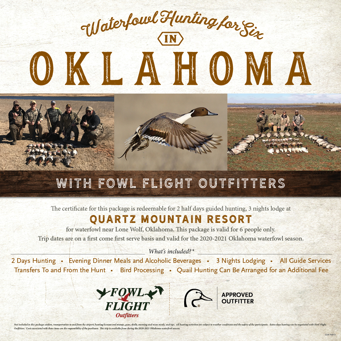 6 Man Oklahoma Waterfowl Hunt Raffle With Maryland Hunting Calendar 2021