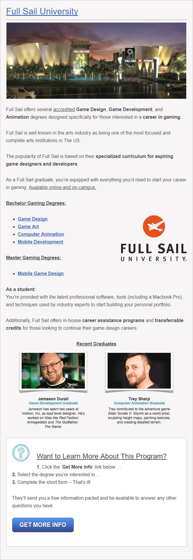 75 Best Video Game Design Schools (World Rankings) In Full Sail University Class Schedule