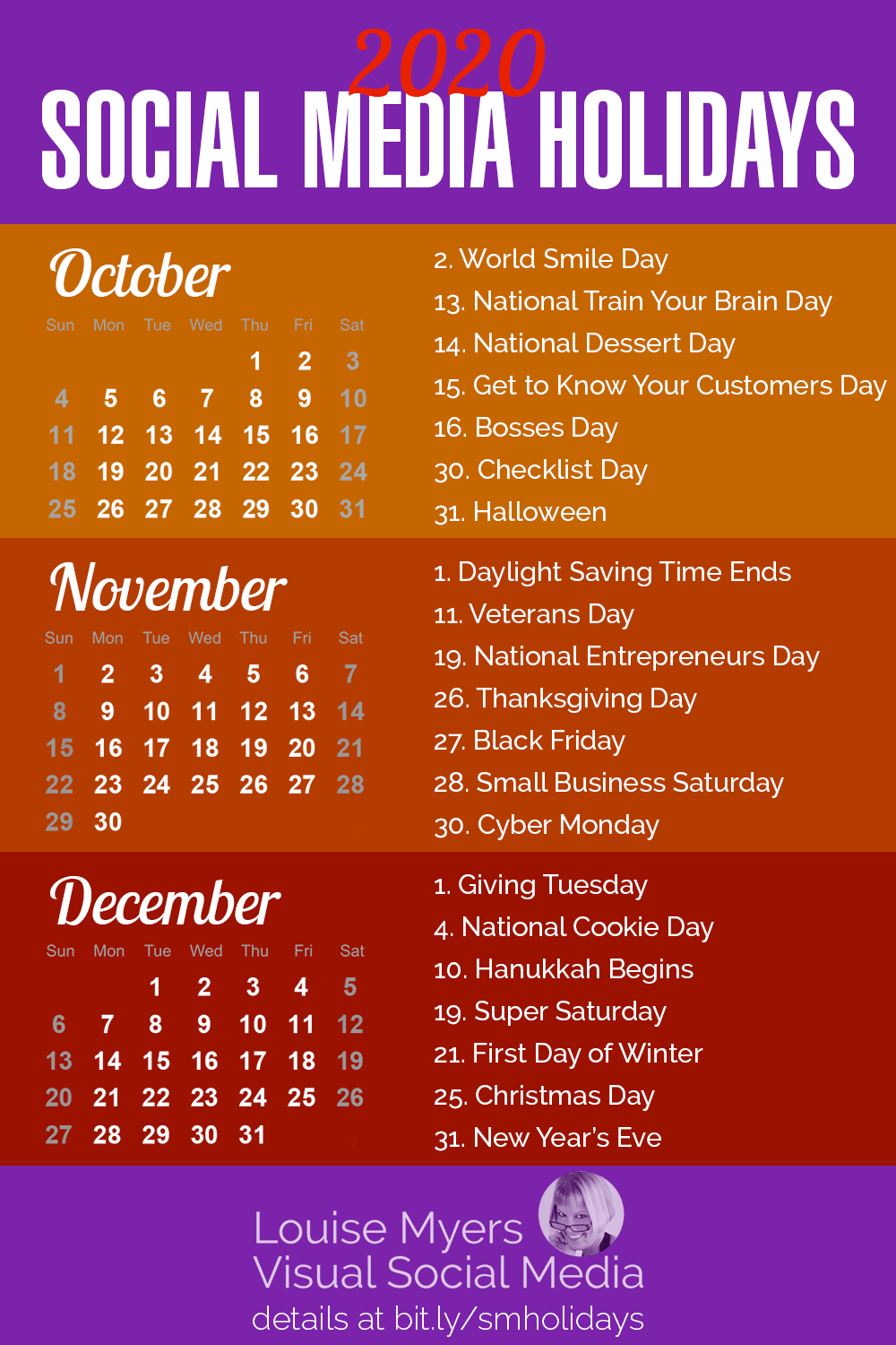 84 Social Media Holidays You Need In 2020: Indispensable! In Find Me An Everyday Is A Holiday Calendar