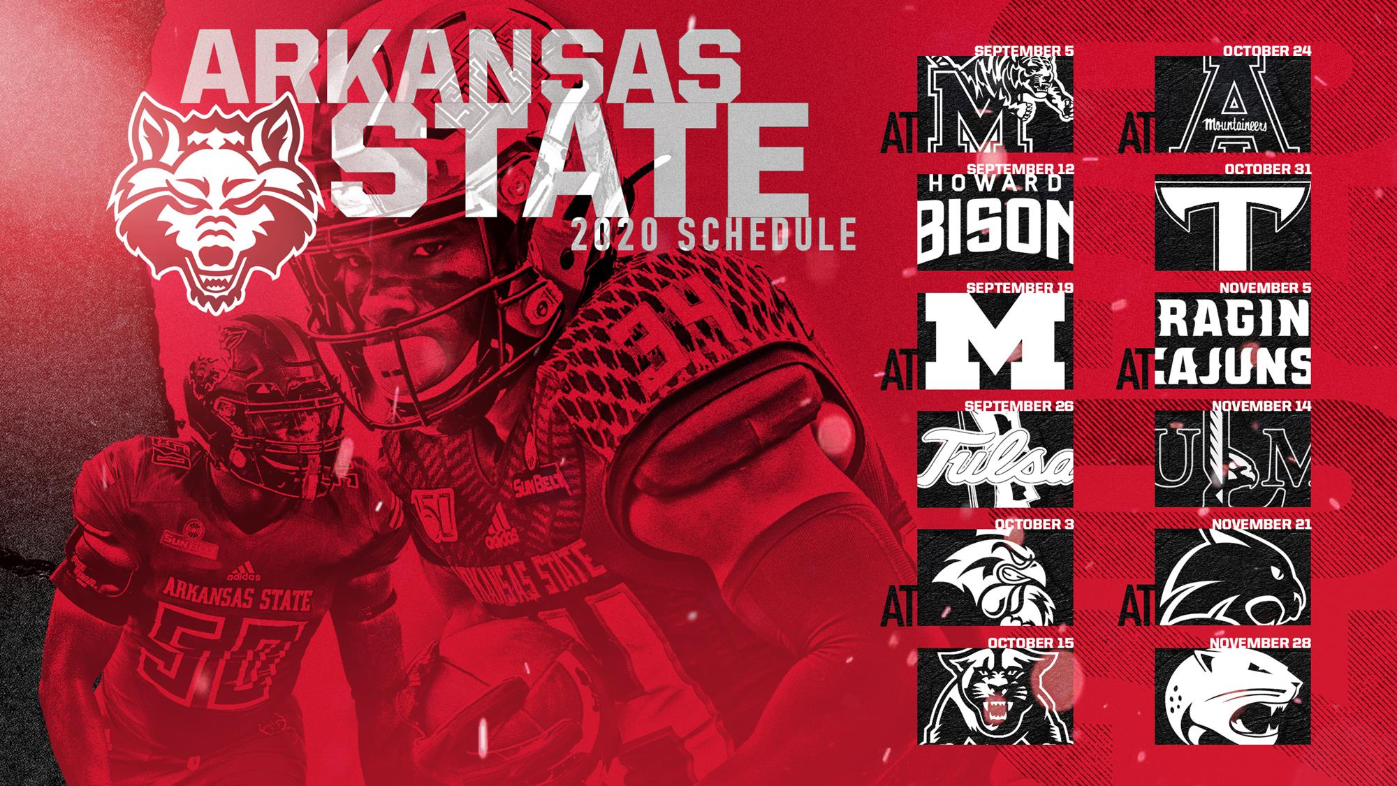 A State Announces 2020 Football Schedule - Arkansas State Inside Arkansas State University Holiday Schedule