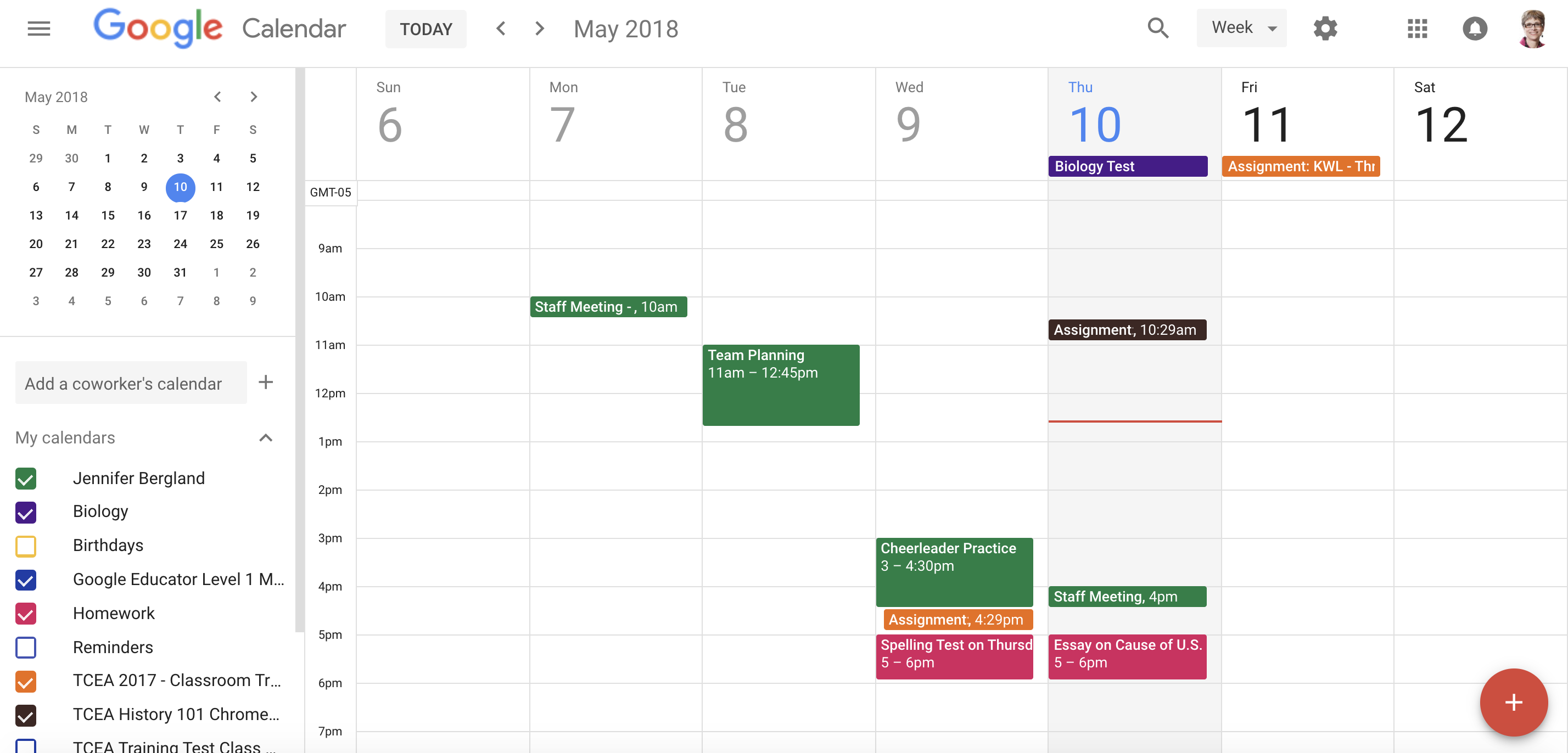 A Teacher's Guide To Google Calendar • Technotes Blog For How To Create A Printable Calendar In G Suite