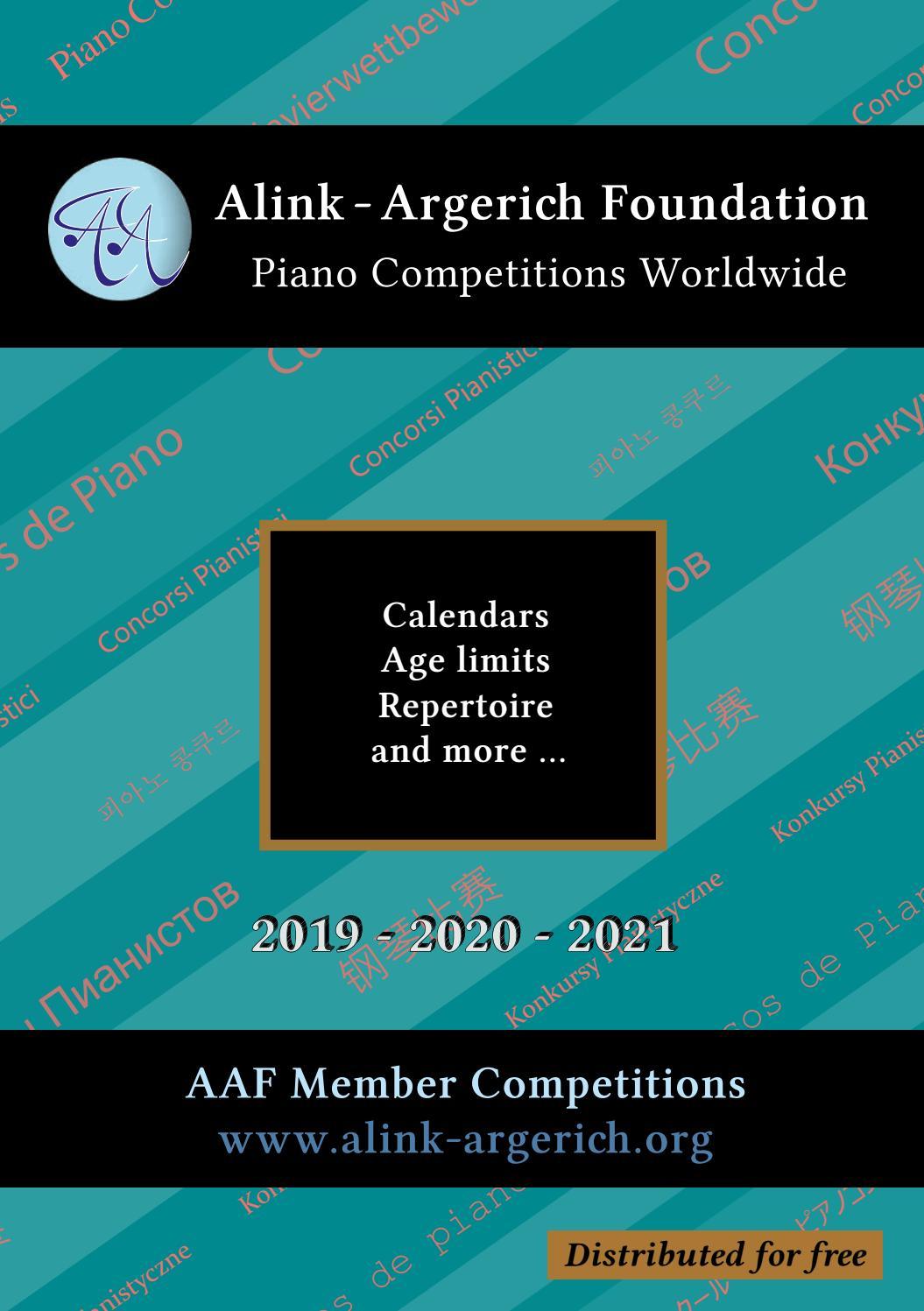 Aaf Catalogue 2019Alink Argerich Foundation – Issuu Throughout August 2021 Calendar Hsu
