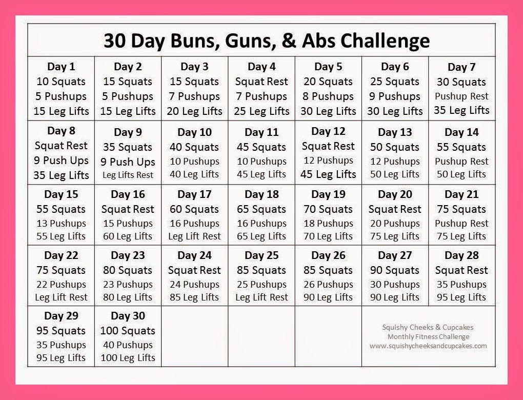 Ab Challenge Calendar Printable New Calendar Template Site Intended For 30 Days Squat Challenge Calendar