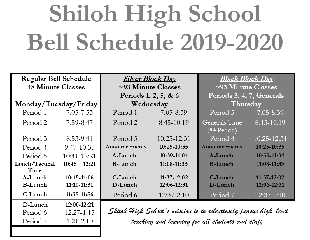 About Shiloh / Welcome To Shiloh High School In School District 93 Calendar For 2020  2021