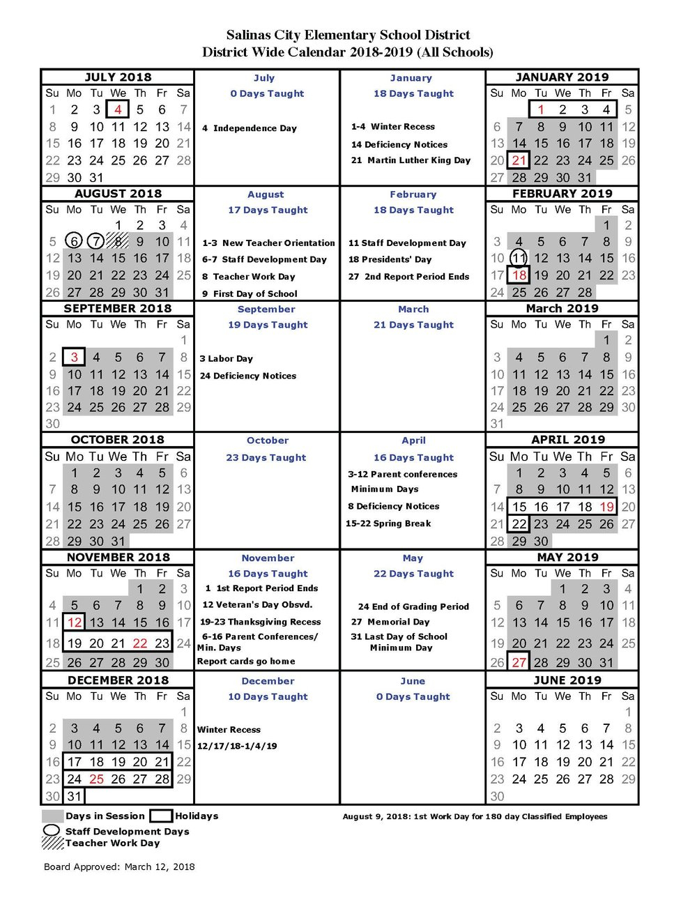 About Us & General District Information — Salinas City Within East Meadow School District Calendar