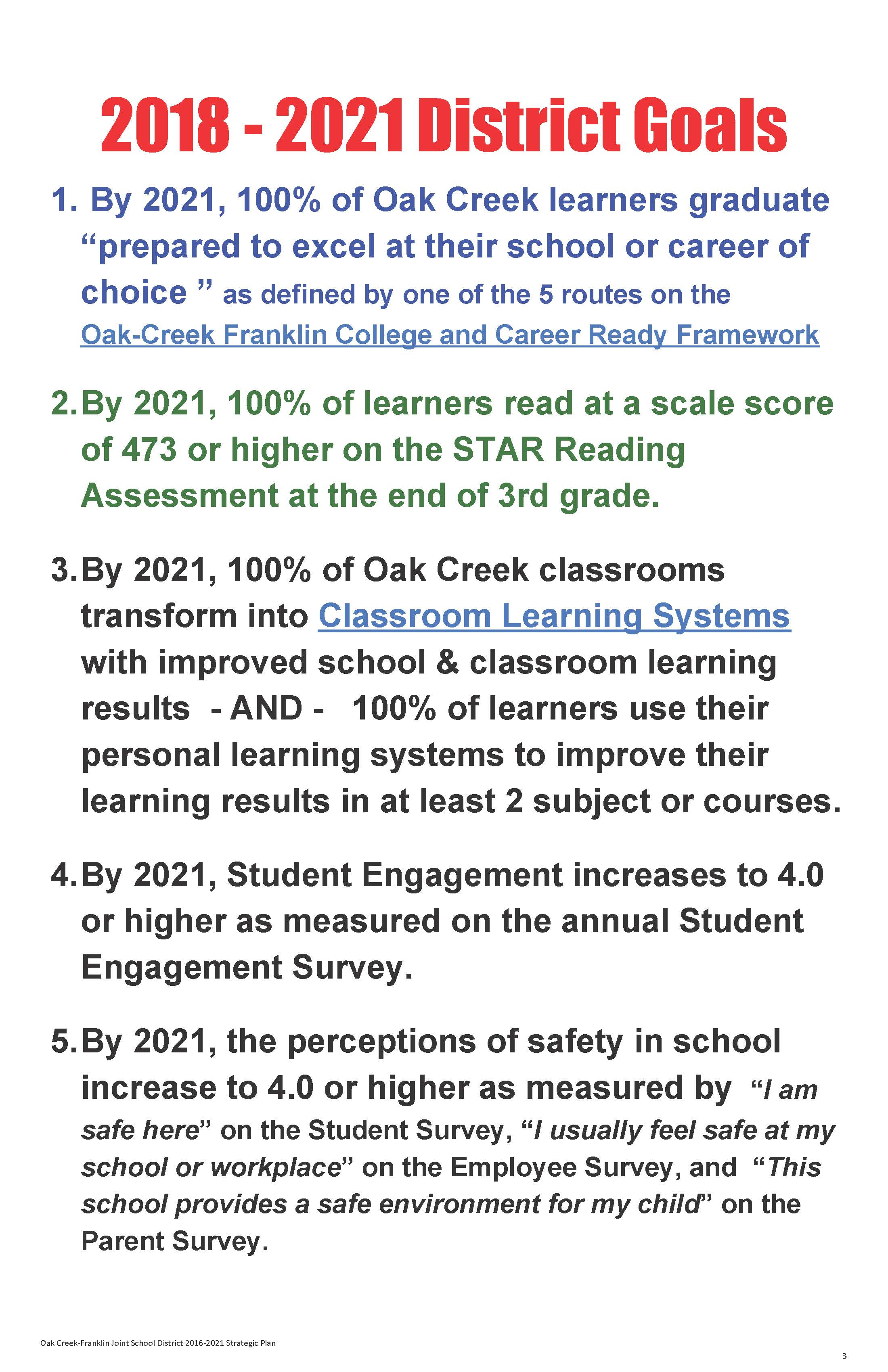 About Us – Oak Creek – Franklin Joint School District In Menomonee Falls School District Calendar 2021