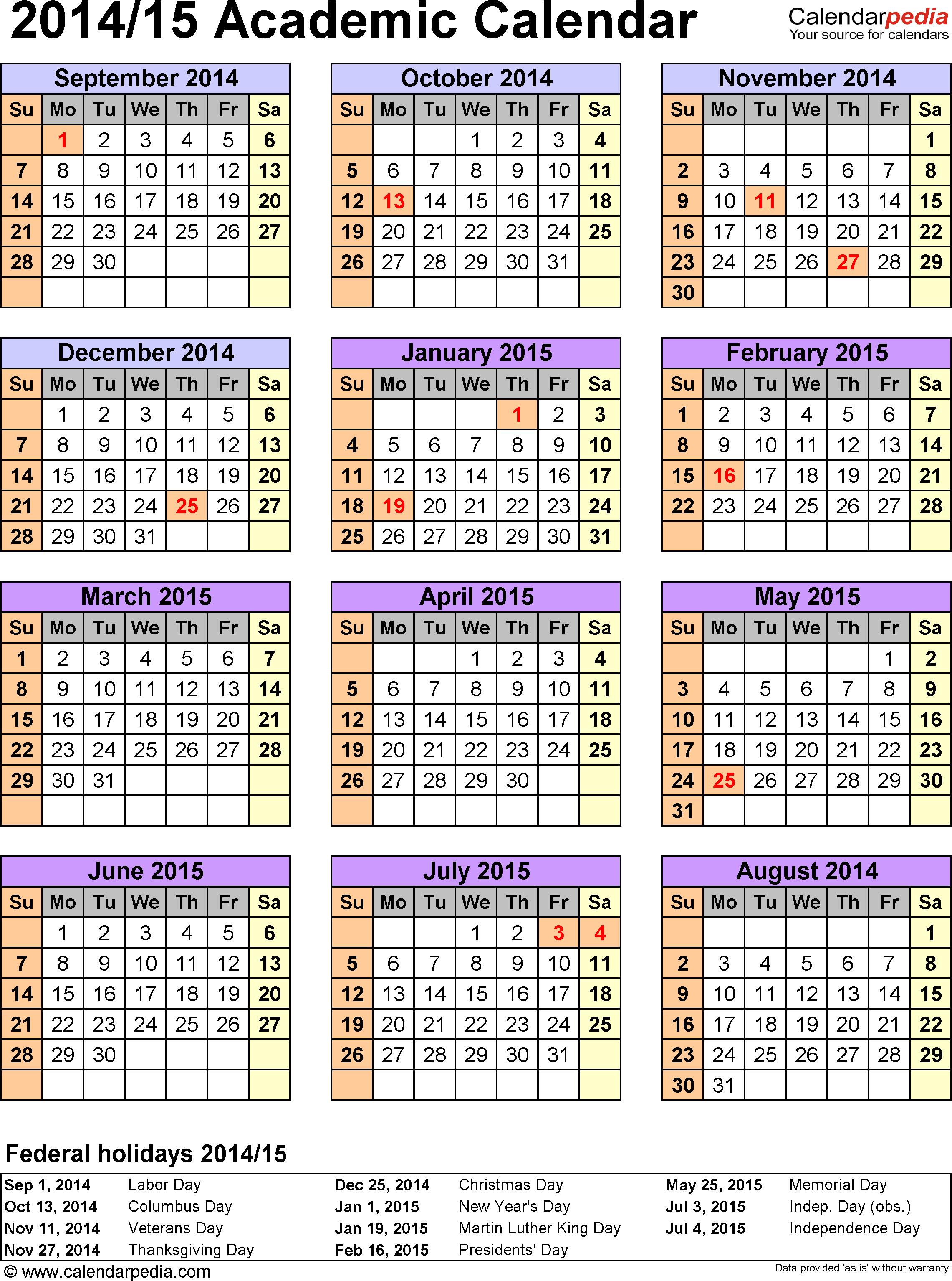 Academic Calendar Cds   Department Of Education Within 2015 Doe School Calendar