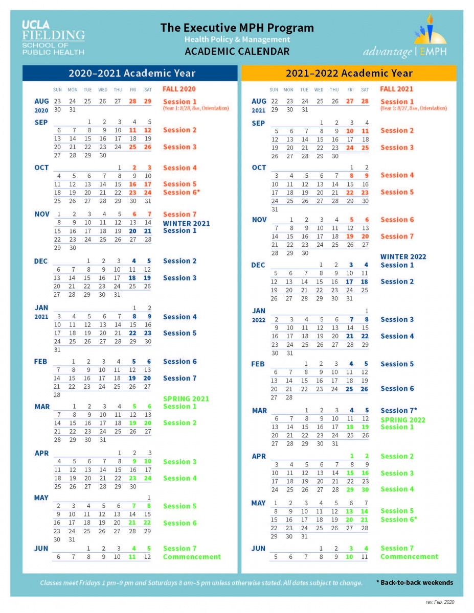 Academic Calendar | Exechpm Regarding Santa Monica College Academic Calendar