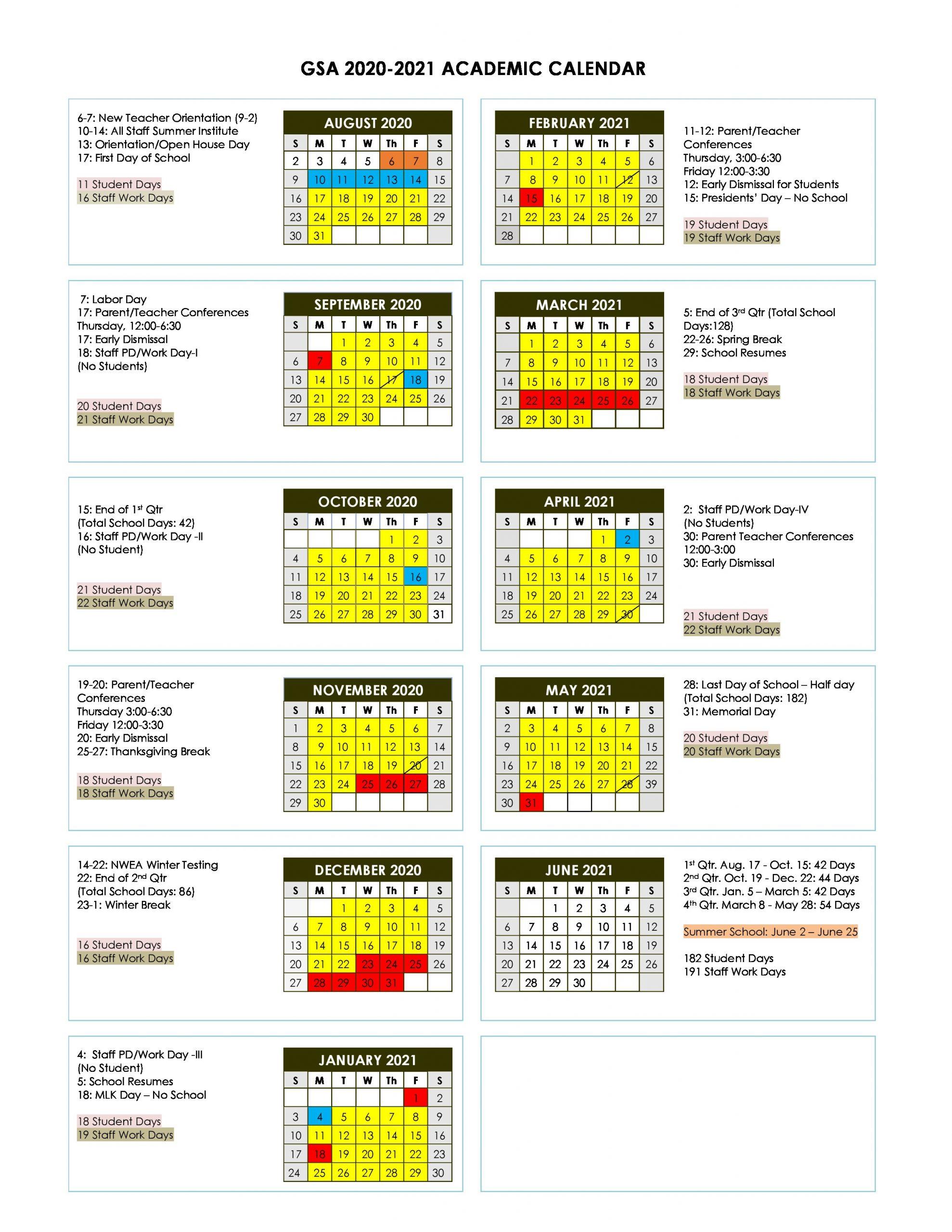 Academic Calendar – Gateway Science Academy Of St. Louis Regarding Saint Charles Communty College Calendar 2020