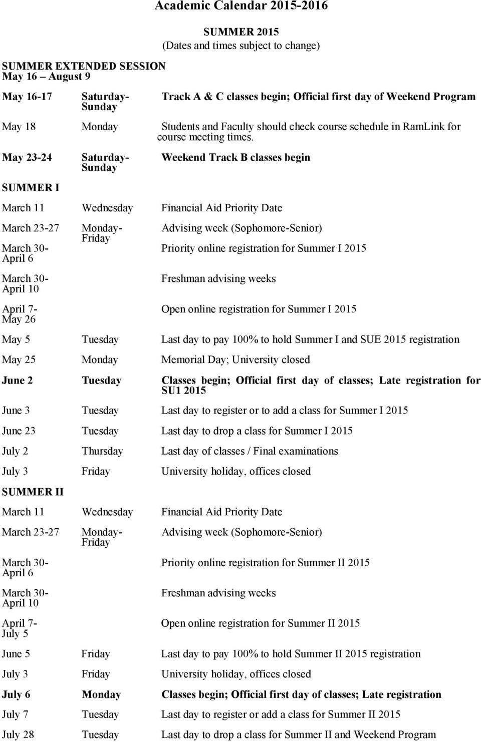 Academic Calendar – Pdf Free Download Within St Ambrose U Iverisry Academic.calendar