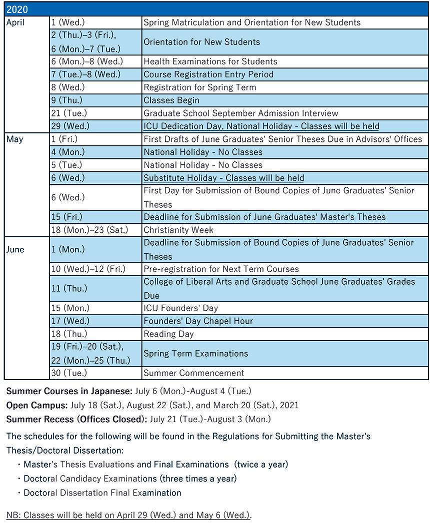 Academic Calendar|Icu - International Christian University With St Petersburg College Academic Calendar 2021