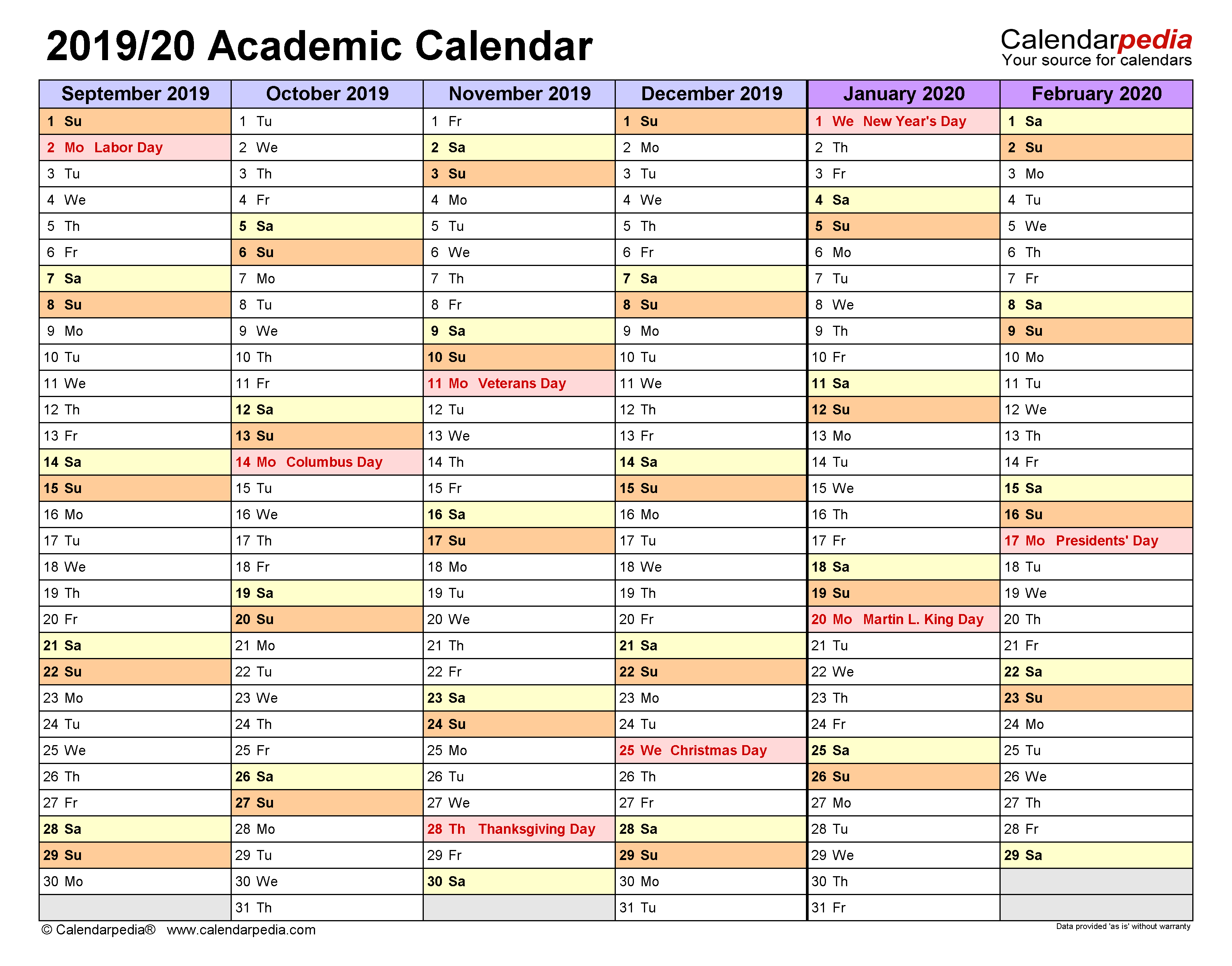 Iowa State University Spring Semester Printable Calendar ...