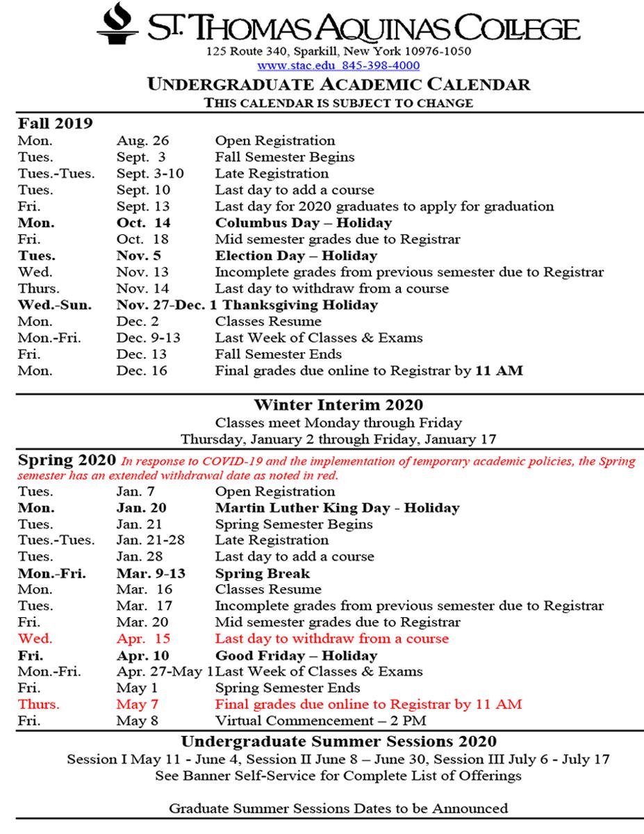 Academic Calendars Within Staten Island College Callendar