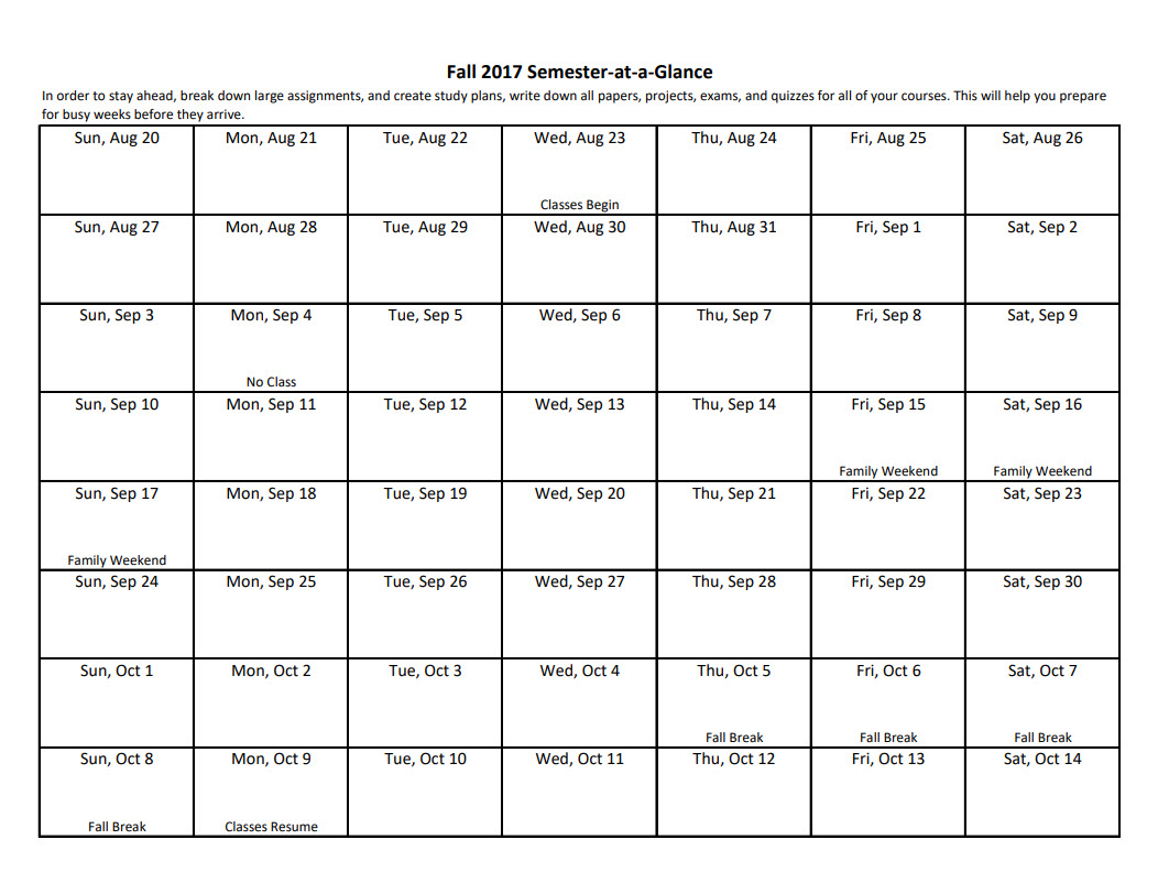 Academic Planning Tools : University Of Dayton, Ohio For University Of Dayton Class Schedule Blank Template