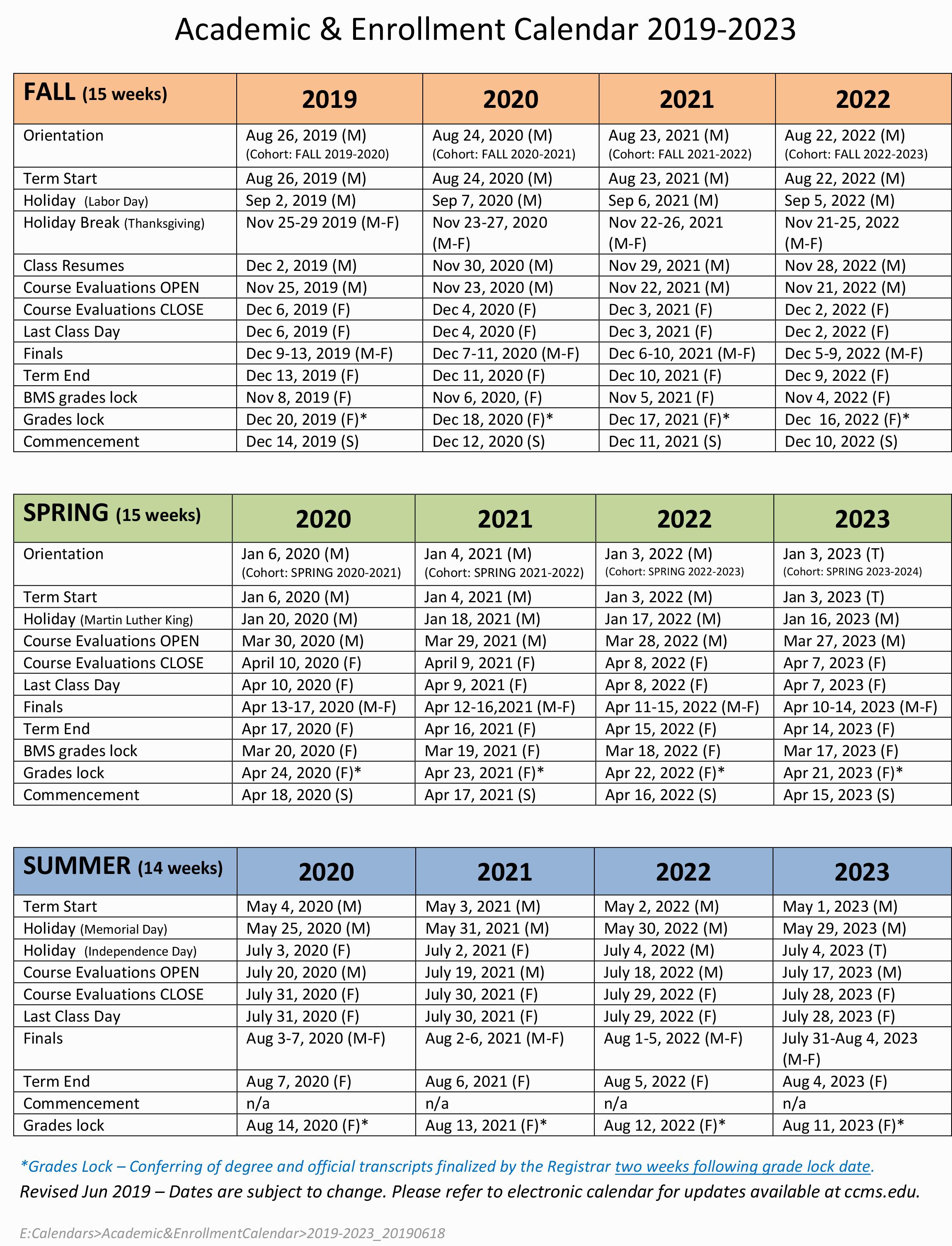 Academics | Academic Calendar | Academic Calendar Regarding Miami Of Ohio Academic Calendar