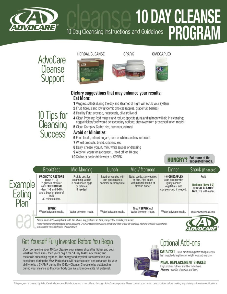 Advocare 10 Day Cleanse Instructions Pdf Remember That The Inside Advocare 24 Day Challenge Calendar