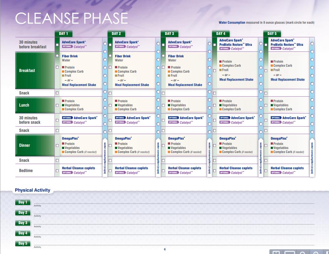 Advocare Catalyst® | 24 Day Challenge Guide, Advocare 10 Day Intended For Advocare 24 Day Challenge Calendar