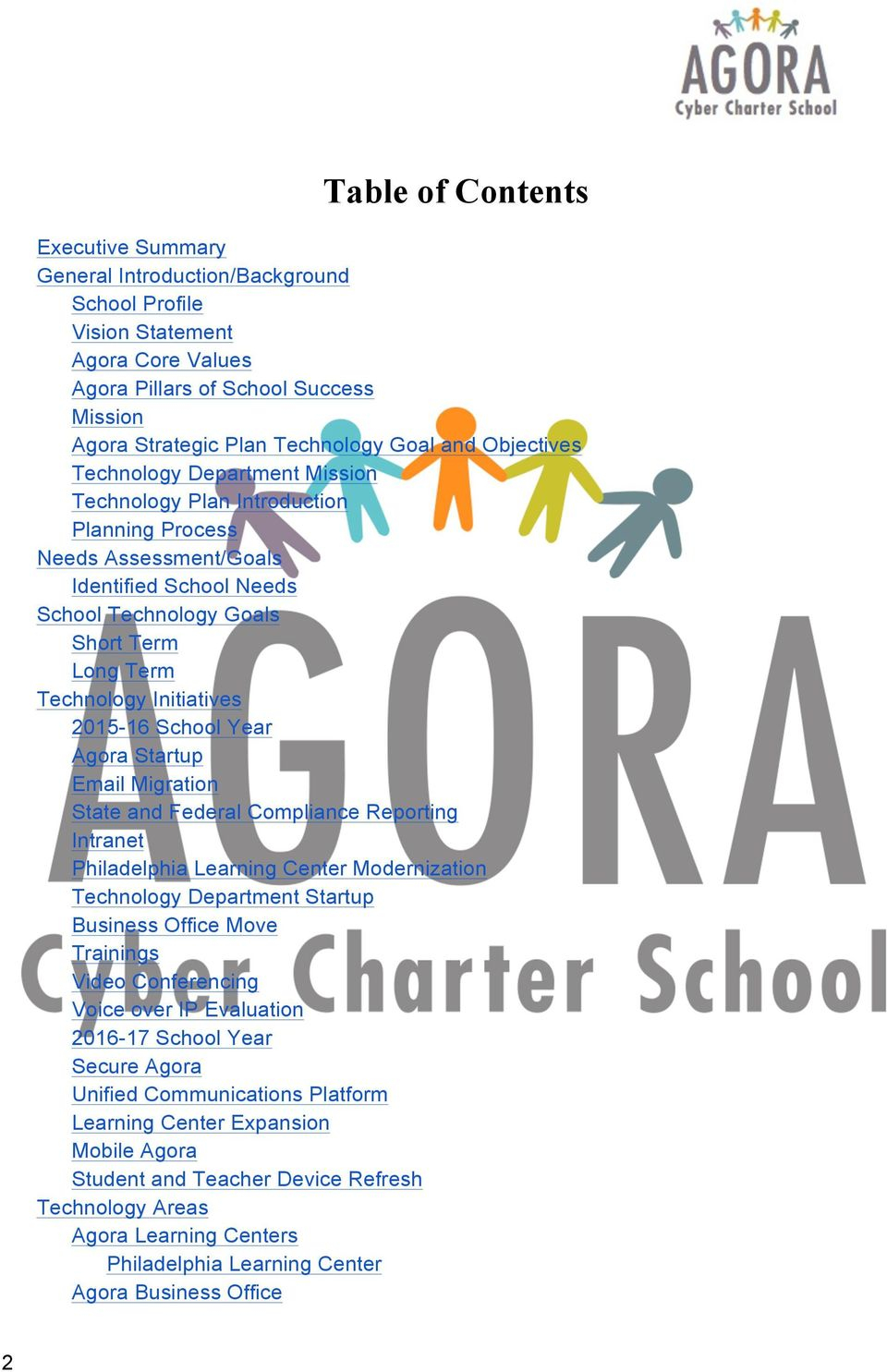 Agora Cyber Charter School Three Year Technology Plan - Pdf Throughout Agora Cyber Charter School Calendar