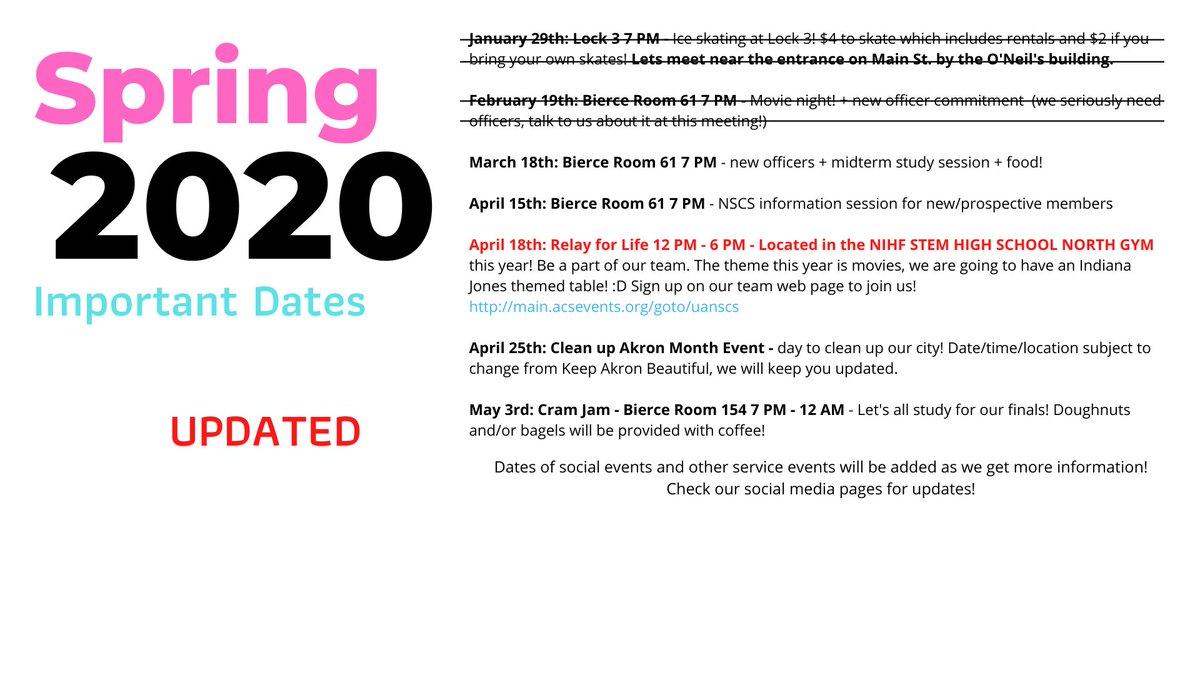 Akron Nscs (@akronnscs)   Twitter Regarding University Of Akron Spring 2020 Calendar