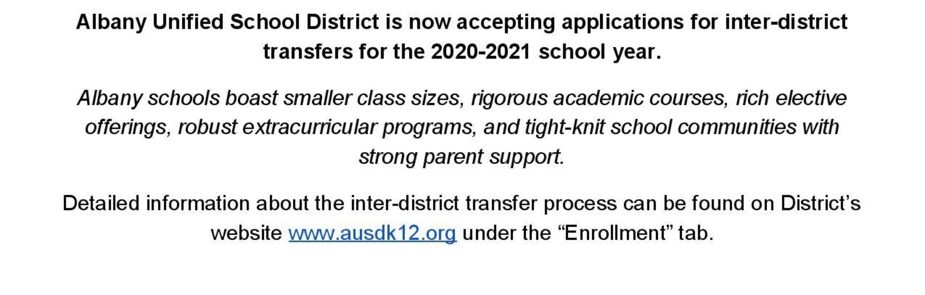Albany Unified School District Pertaining To Albany City School District Calendar 2021