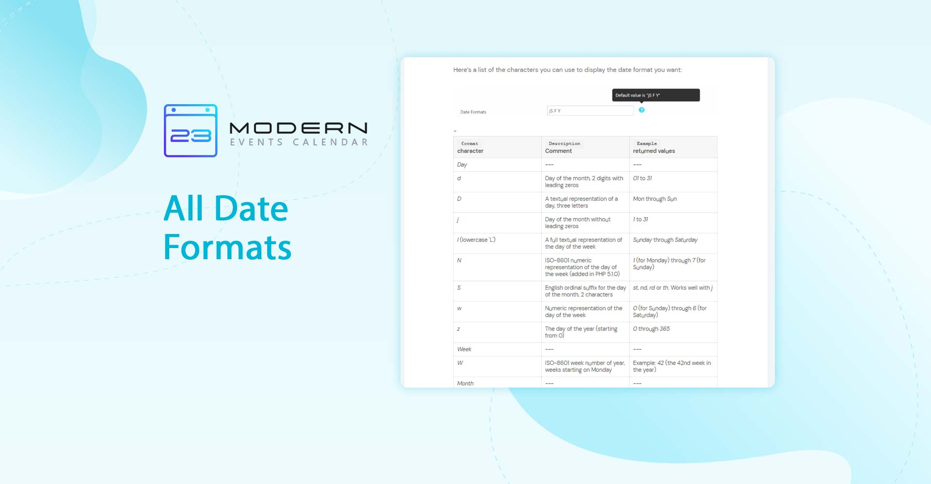 All Date Formats – Modern Events Calendar Pertaining To Single Page 1999 Calendar
