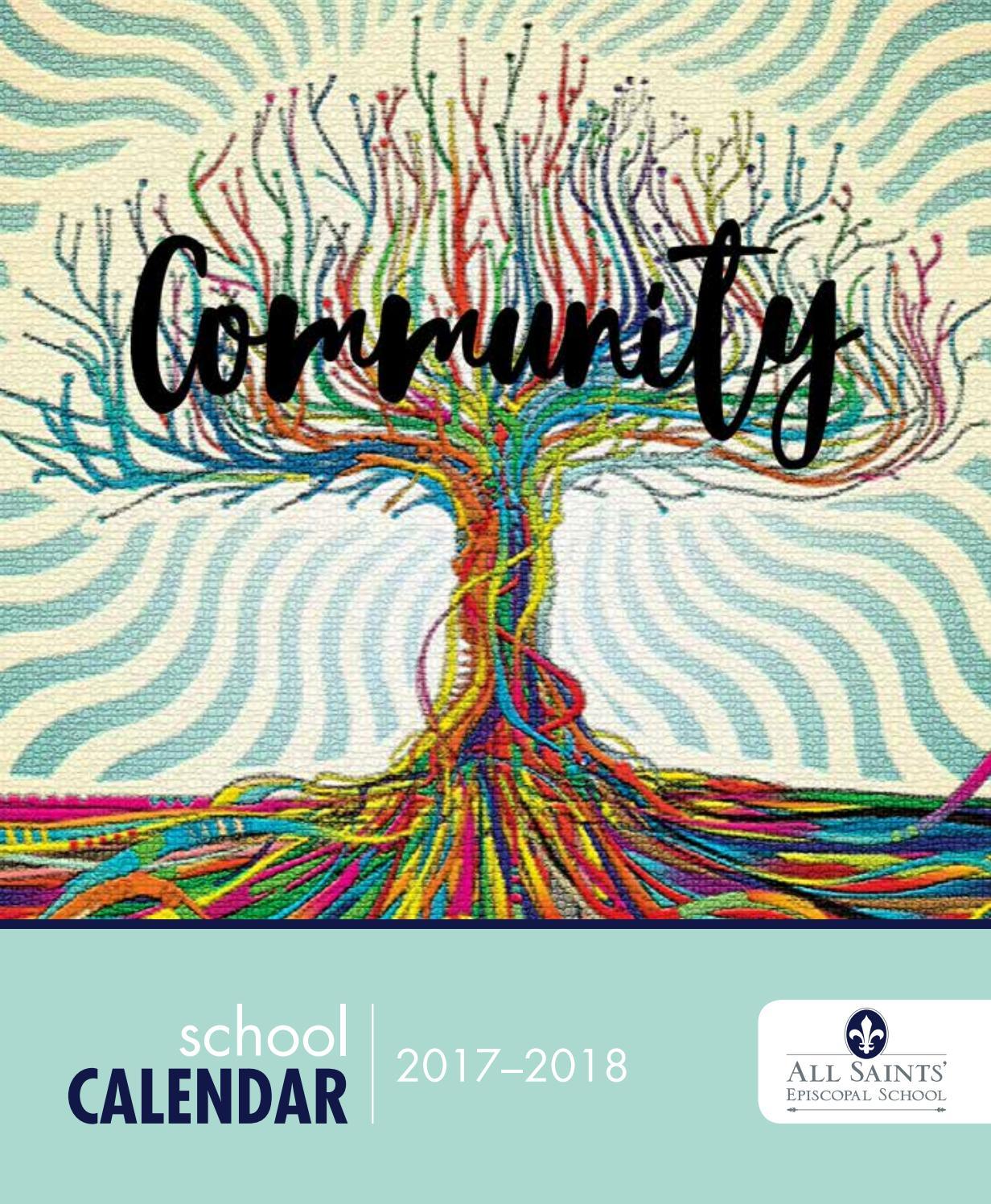 All Saints' Calendar, 2017 2018All Saints' Episcopal Regarding Dsm School Calendar