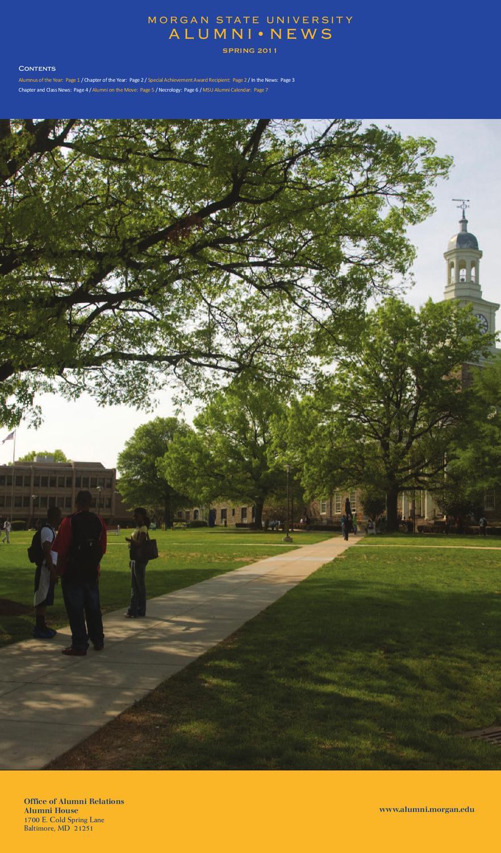 Alumni News Spring 2011Morgan State University – Issuu Intended For Morgan State Spring Calendar