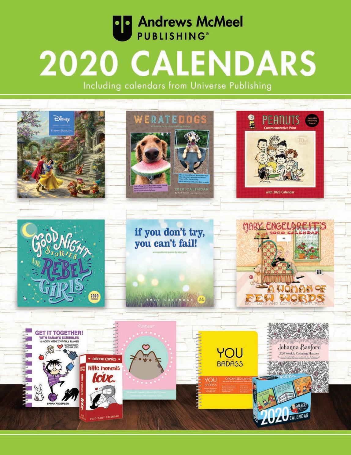 Andrews Mcmeel Publishing 2020 Calendar Catalogandrews With Regard To University Of Rhosde Island Calendar 20 21